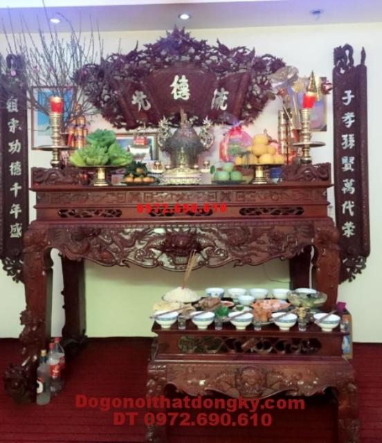 Bàn thờ đẹp, Bàn thờ gỗ gụ dogonoithatdongky.com ST54