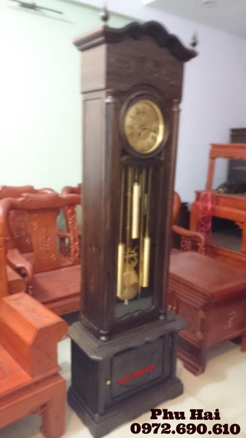 Đồng hồ đẹp giá rẻ kiểu cổ gỗ gụ DH50