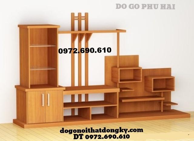 Tủ để tivi đẹp gỗ hương do go dong ky KTV23