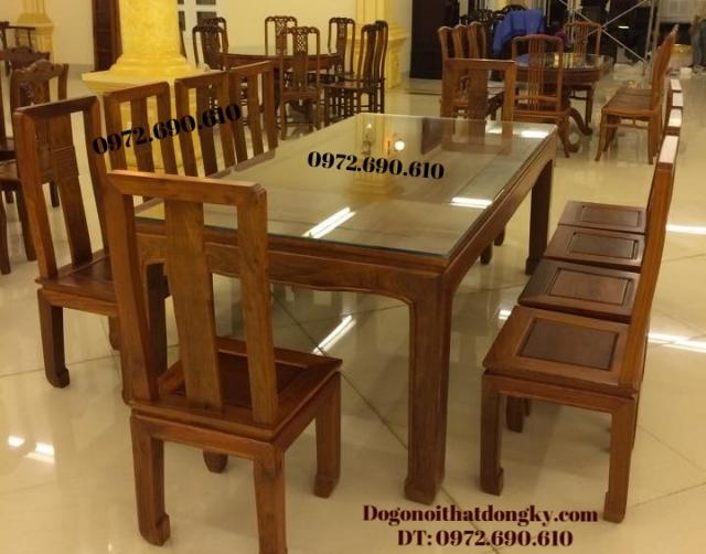Bộ bàn ăn đẹp bàn chữ nhật 10 ghế BA59