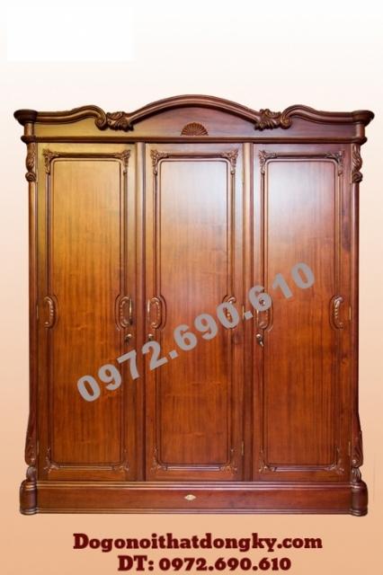 Tủ gỗ đựng quần áo đẹp 3 Buồng 3 Cánh TA10