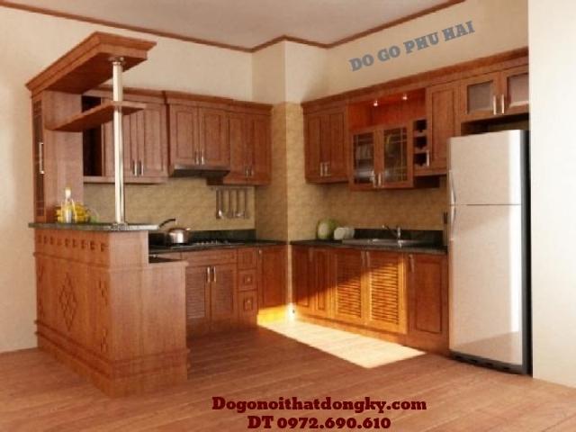 Làm tủ bếp, đóng Tủ bếp đẹp giá rẻ gỗ Camxe TB4