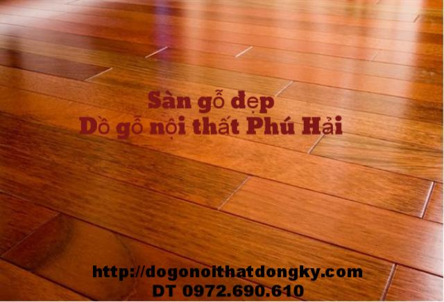 Sàn gỗ đẹp, sàn gỗ Căm Xe ghép thanh SG1