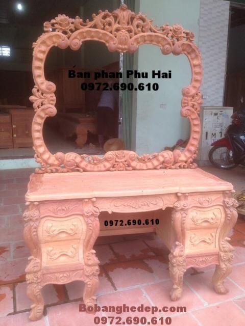 Mẫu bàn ghế trang điểm đẹp đồ gỗ Phú Hải BP44