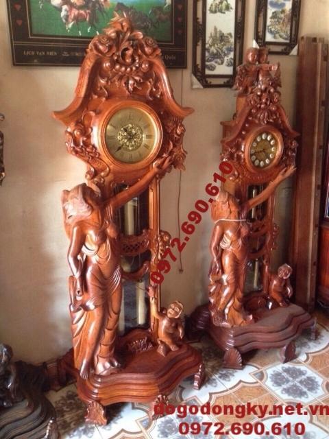 Mẫu đồng hồ thiếu nữ đồ gỗ mỹ nghệ Phú hải DH67
