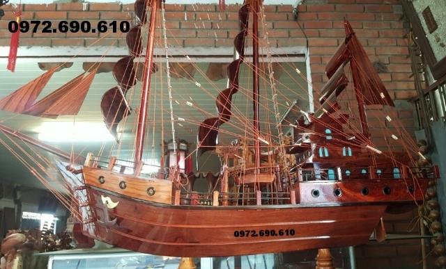 Thuyền buồm, thuyền gỗ quà tặng phong thủy TB3