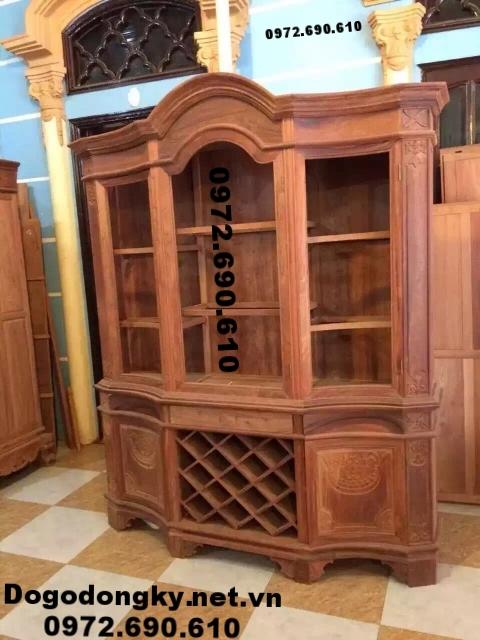 Tủ bày rượu, tủ để rượu đẹp dogodongky.net.vn TR17