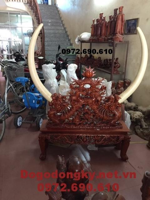 Mẫu Giá cắm ngà voi, Giá để ngà voi gỗ gụ GN19