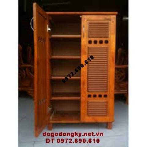 Tủ giày gỗ hương, Tủ để giày đẹp và tiện dụng T.G5