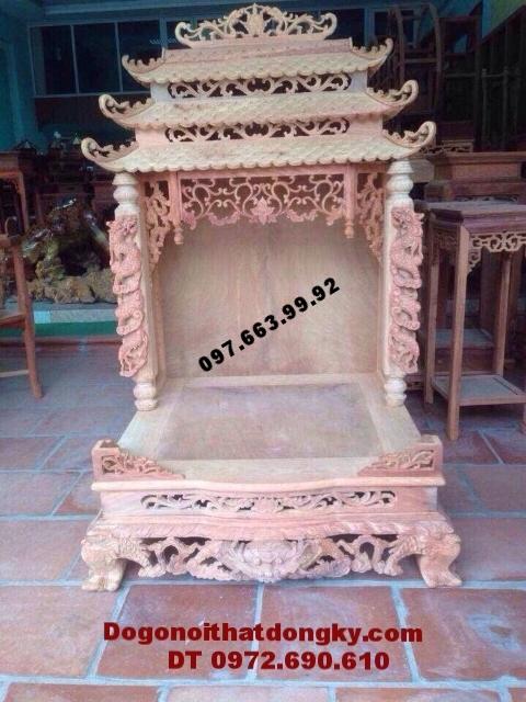 Bàn thờ thần tài đẹp gỗ gụ dogodongky.net.vn BTT20