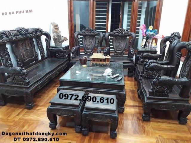 Bộ bàn ghế gỗ trắc Công trĩ chỉ đại gia mới có B178