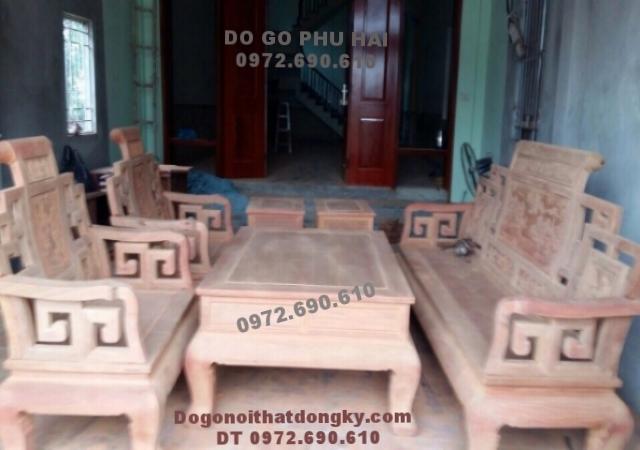 Bộ bàn ghế gỗ đinh hương mẫu Sơn thủy B180