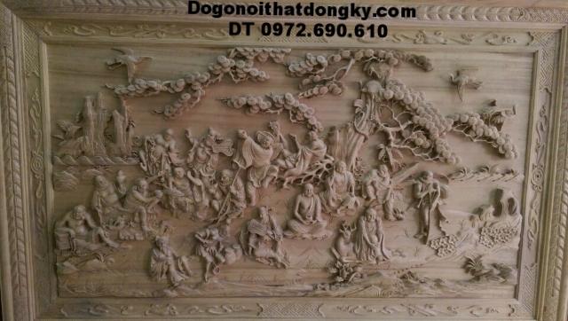 Tranh khắc gỗ treo tường, Tranh 18 vị La hán T16