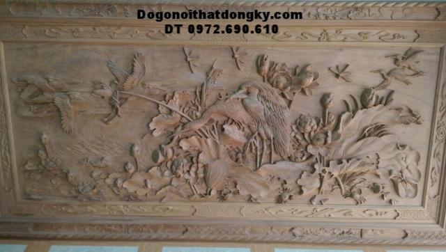 Tranh khắc gỗ mỹ nghệ Tùng Hạc diên niên T26