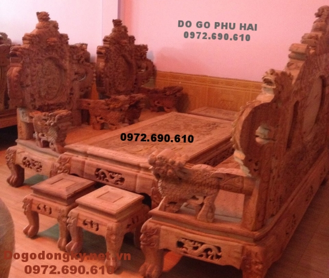 Bộ Bàn Ghế Đồng Kỵ Đẹp Gỗ Đinh Hương B186