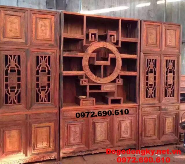 Vách Ngăn Phòng Khách, Bình Phong, Giá Bày Đồ Tứ Diện BP09