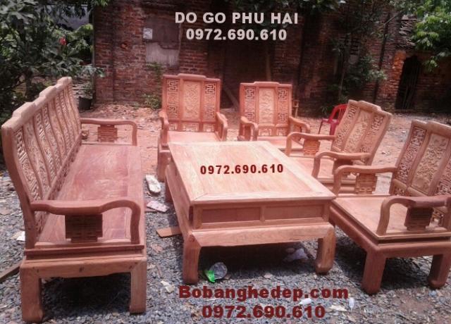 Nội Thất Gỗ Đồng Kỵ Bộ bàn ghế mẫu mới gỗ hương đa...