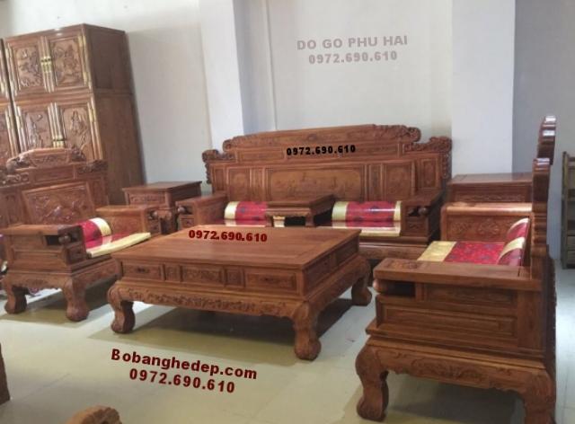 Bàn ghế phòng khách đẹp gỗ đồng kỵ mẫu mới B193