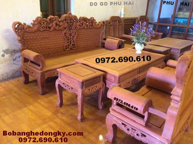 Bộ Bàn Ghế Sofa Đẹp Kiểu Dáng Châu Âu B203