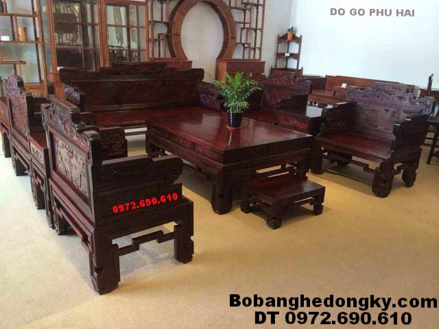 Mẫu Bàn Ghế Phòng Khách Đẹp Kiểu Dáng Mới B209