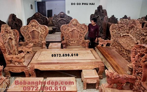 Bộ Bàn Ghế Đồng Kỵ Cho Nhà Biệt Thự Kiểu Bát Mã B211
