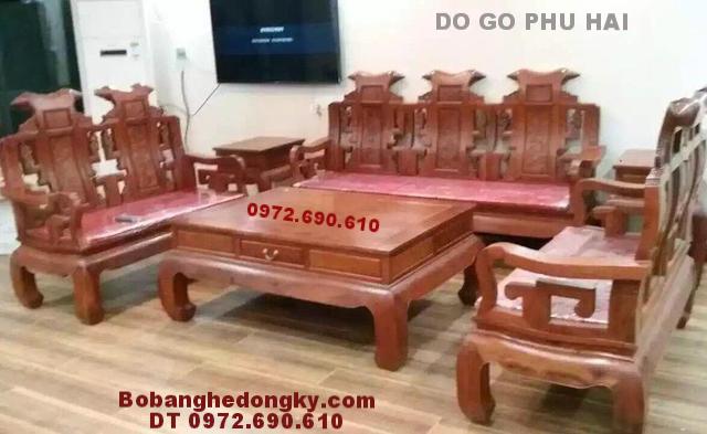 Sofa Gỗ Phòng Khách Đẹp, Giá Rẻ Dogodongky.net.vn B221