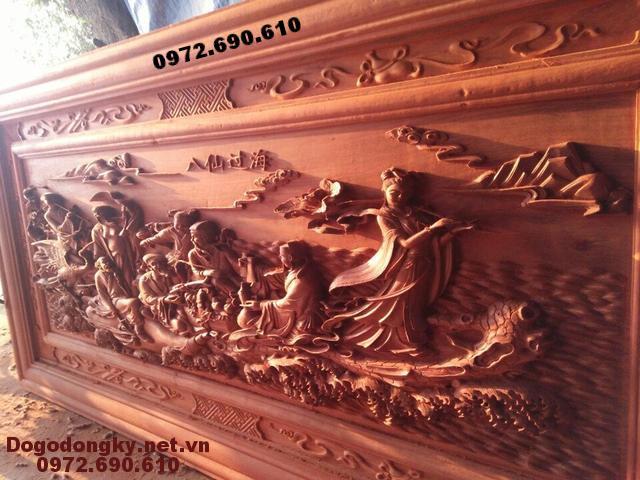 Tranh gỗ mỹ nghệ, Tranh phong thủy Bát Tiên Quá Hải T44