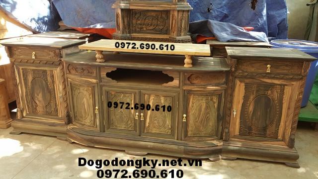 Kệ Để Tivi Gỗ Mun Cho Phòng Khách Sang Trọng KTV72