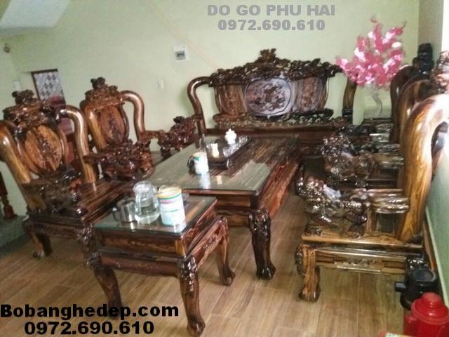 Bộ bàn ghế gỗ mun, Hàng đẹp và hiếm B231
