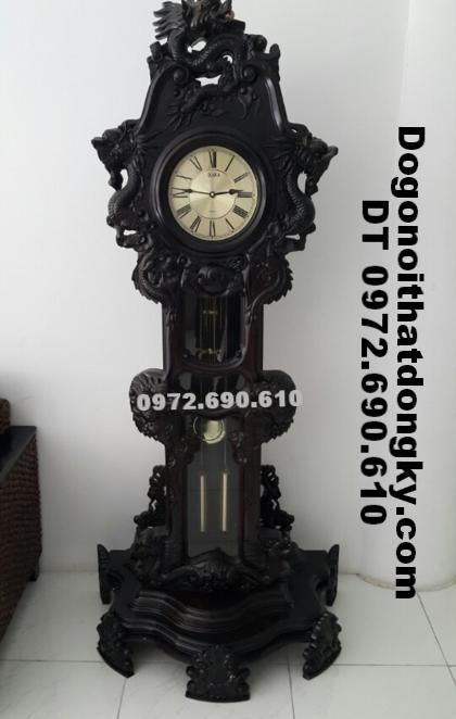 Đồng hồ gỗ trắc, Đồng hồ đẹp cho phòng khách DH103