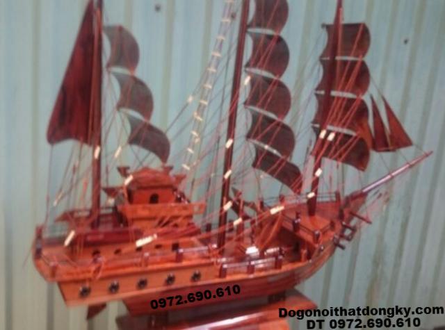 Mẫu Thuyền Buồm Gỗ Đẹp Trang Trí Phòng Khách TB11