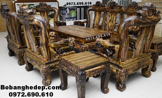 Bộ Bàn Ghế Gỗ Mun Sọc Dogonoithatdongky.com B263