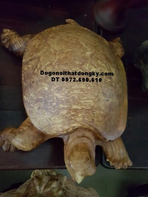 Rùa Vàng Phong Thủy, Con Rùa Bằng Gỗ Ngọc Nghiến R1