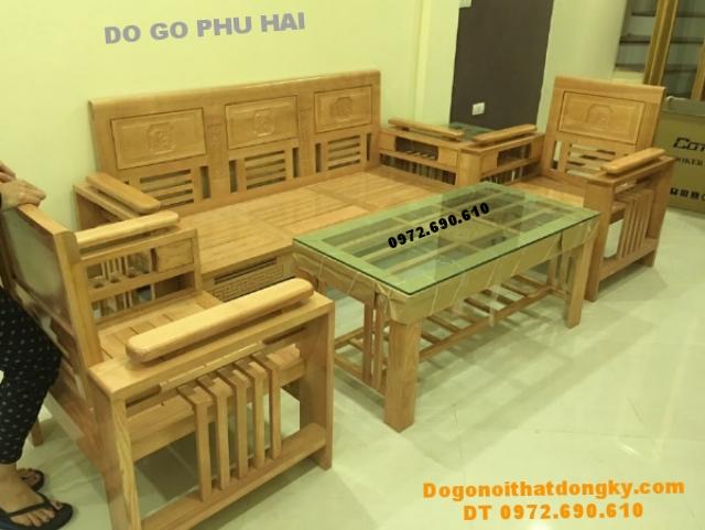 Bộ Bàn Ghế Gỗ Phòng Khách Giá Rẻ Bobanghedep.com B266