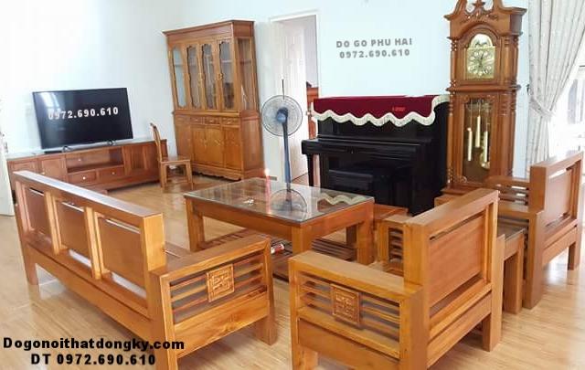 Mẫu Bộ Bàn Ghế Gỗ Phòng Khách Nhỏ Xinh B268