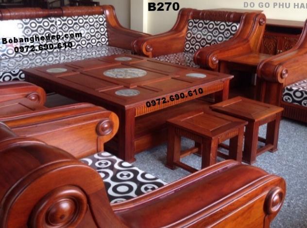 01 Bộ bàn ghế gỗ đinh hương đẹp Kiểu Dáng Hiện Đại B270...