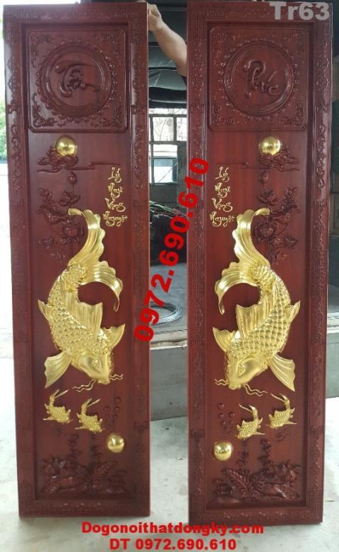 Tranh Phong Thủy Rước Tài Lộc Lý Ngư Vọng Nguyệt Tr63