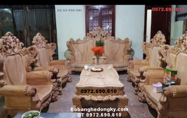 Bộ Bàn Ghế Hoàng Gia Cho Phòng Khách Đẹp B272