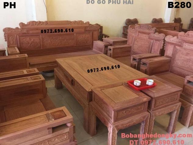 Bộ Bàn Ghế Gỗ Đẹp Cho Phòng Khách Hiện Đại B280