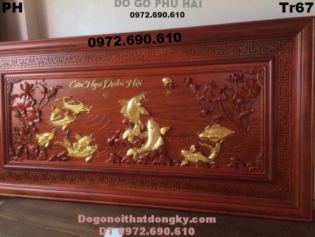 Tranh Phong Thủy , Tranh Cá Chép Quần Hội Tr67
