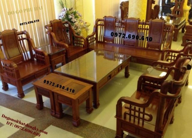 Bộ bàn ghế đẹp kiểu cổ đời Tần do go dong ky B106