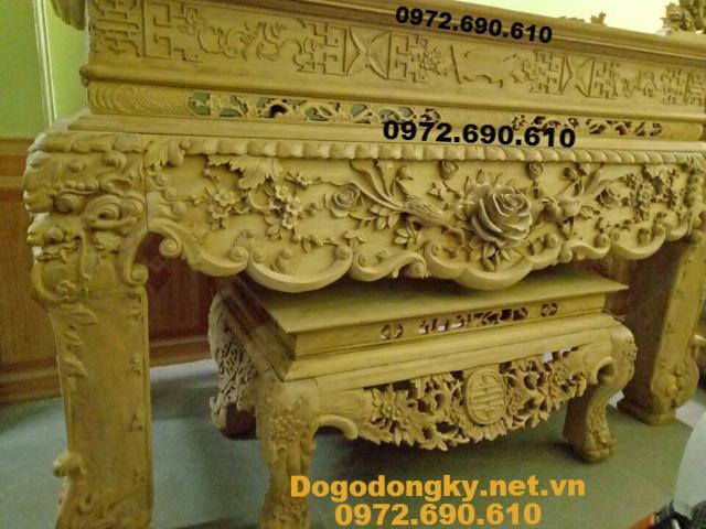 Kiểu Bàn Thờ Phật Đẹp Nhất Hàng Đồng Kỵ ST118