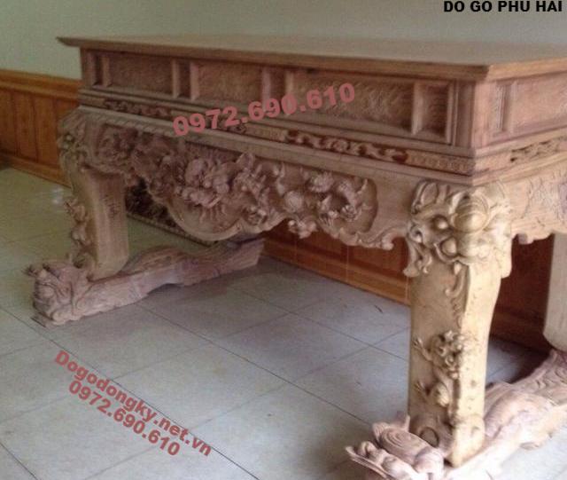 Những Mẫu Bàn Thờ Đẹp Nhất Gỗ Gụ, Mít, Hương ST128