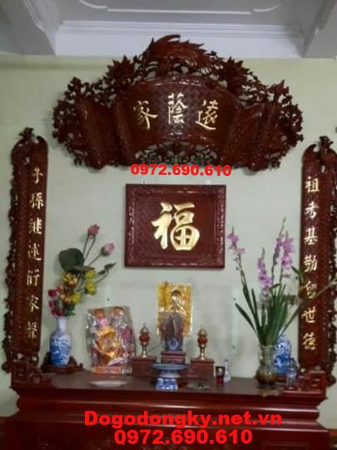 Mẫu Câu Đối Cuốn Thư Chữ Vàng Đức Lưu Quang HP54
