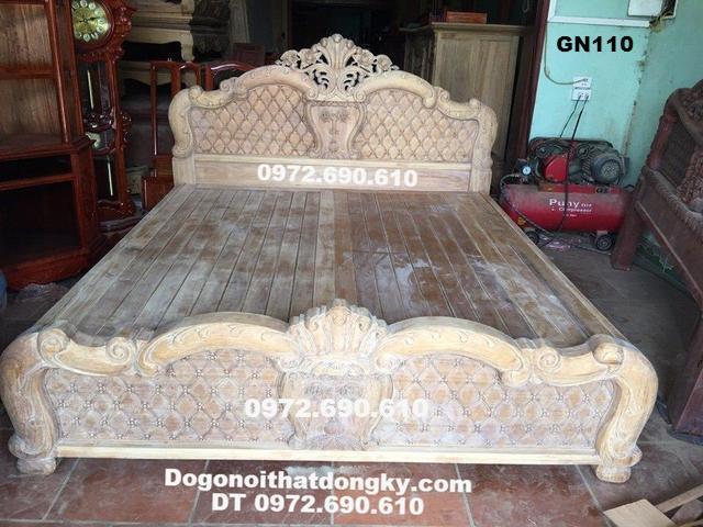 Giường gỗ đẹp, Giường ngủ cho phòng ngủ hiên đại GN110...