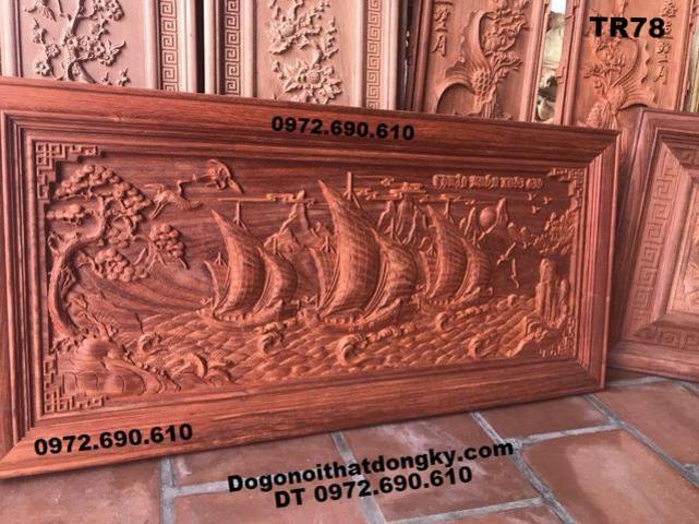Tranh Thuận Buồm Xuôi Gió Gỗ hương mẫu chuẩn TR78