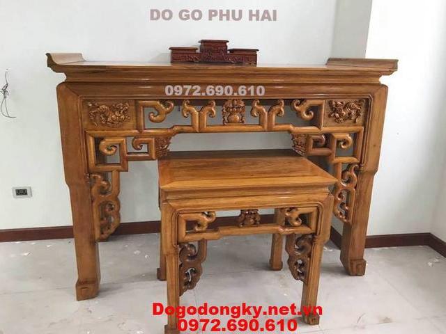 Bàn Thờ Gia Tiên Mẫu Nhỏ Gỗ Gõ Dogodongky.net.vn ST131