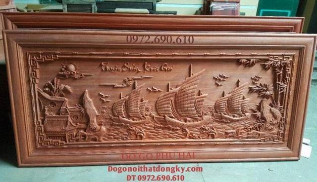 Tranh Thuận Buồm Xuôi Gió, Tranh Gỗ Phong Thủy Tr79