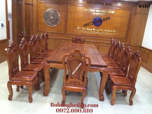 Bộ Bàn Ghế Ăn Đẹp, Bàn Ăn Cho Phòng Ăn Rộng BA117