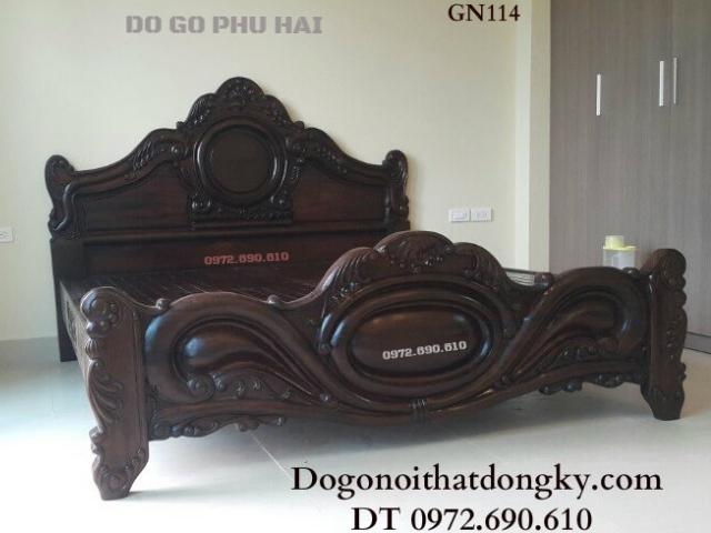 Giường Gỗ Đẹp, Giường Ngủ Gỗ Tốt Dogodongky.net.vn GN11...